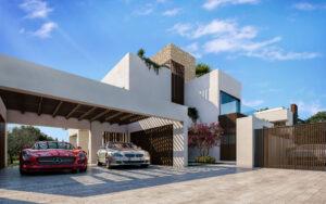 Garaje privado en la entrada principal
