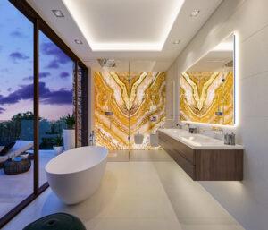 Baño con diseño sofisticado de La Fuente Marbella