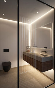 diseño en el baño de La Fuente