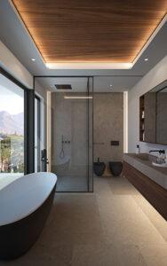 espacios confortables en baño La Fuente