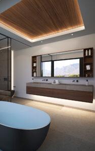 espacio pensado para la relajacion en el baño de la Fuente